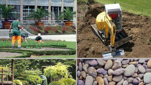 Beispielbild für Arbeiten an diversen Gartenbau-Projekten.