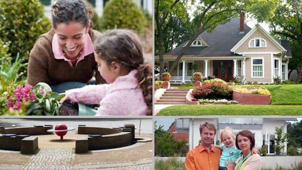 Zufriedene Kunden nach Fertigstellung Ihrer Gartenbau-Projekte.
