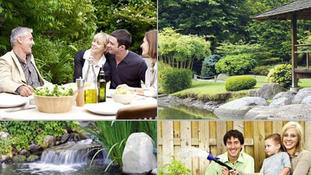 Beautiful garden views and consultation for garden design.